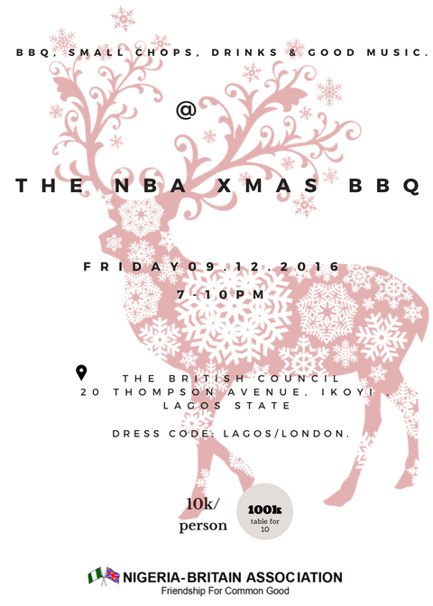 2016 Nigeria Britain Association Xmas BBQ Party