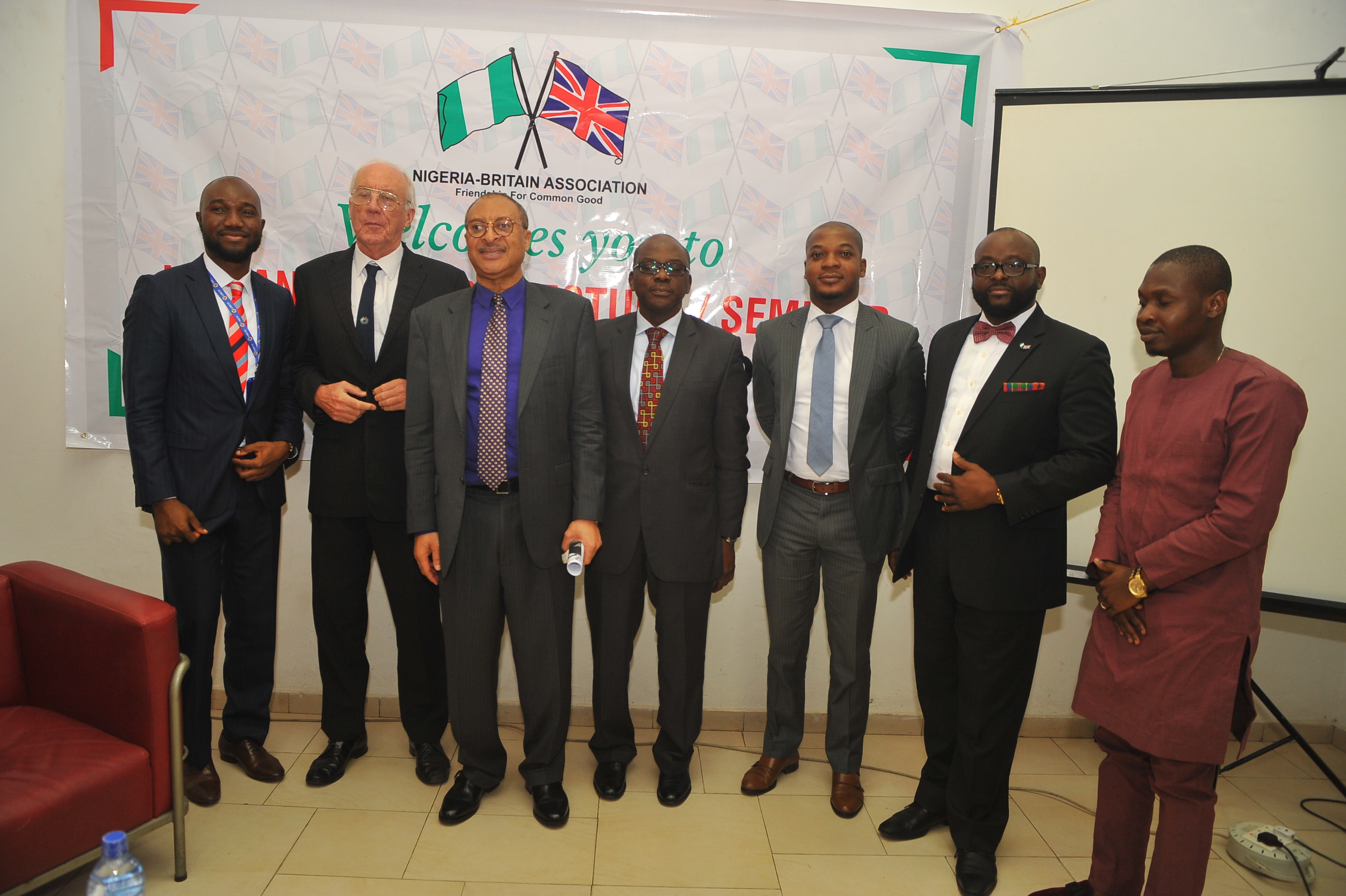 Nigeria-Britain-Association-2017 Lecture series-Council Members of Nigeria Britain Association with Prof Pat Utomi, Wale Anifowoshe