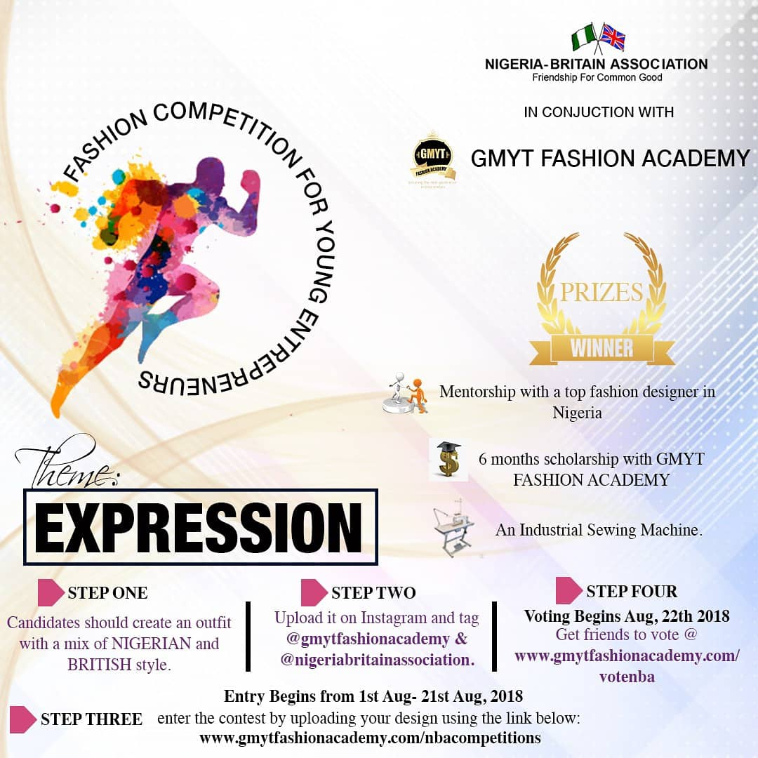 Nigeria-Britain Association & GMYT Fashion 2018 Fashion Competition for Young Entrepreneurs