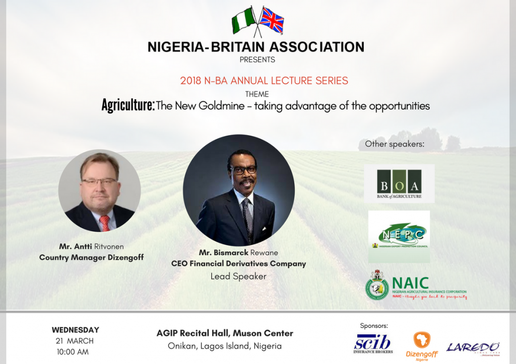 Nigeria-Britain Association -2018 Annual Lecture Series